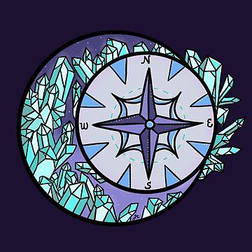 crystal moon compass by jennieclayton