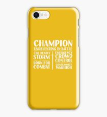Champion - LoTRO iPhone Case/Skin
