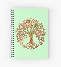 Tree of life orange Spiral Notebook