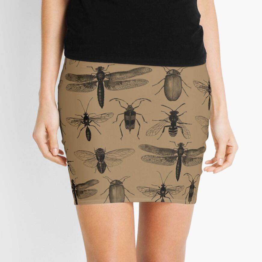 Entomology studies pattern Mini Skirt