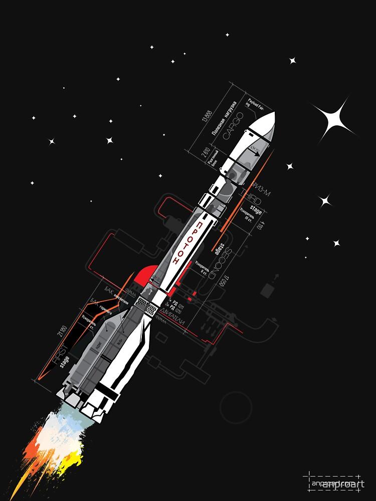 Proton Rocket by anproart