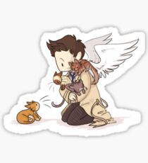 Castiel and Kittens Sticker