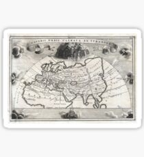 Antique Map - Keller's Climates of the Old World (1706) Sticker