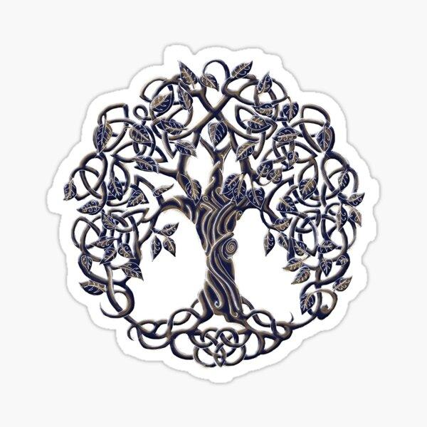 Tree of Life Silver Sticker