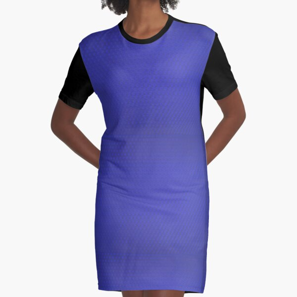 Blue Bees Wax Graphic T-Shirt Dress