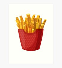 French Fries Graphic Art Print