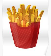 French Fries Graphic Poster