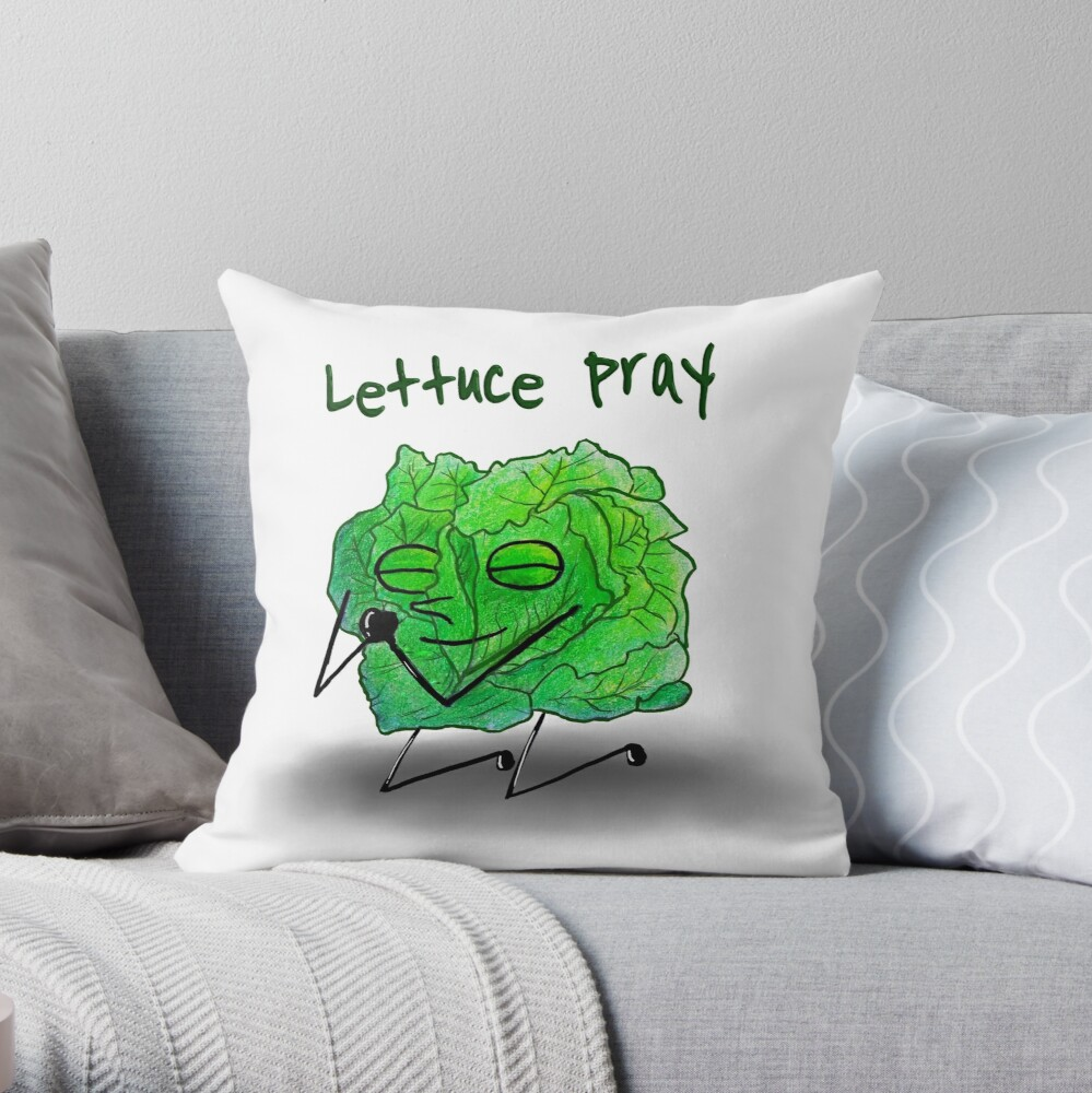 Lettuce Pray Throw Pillow