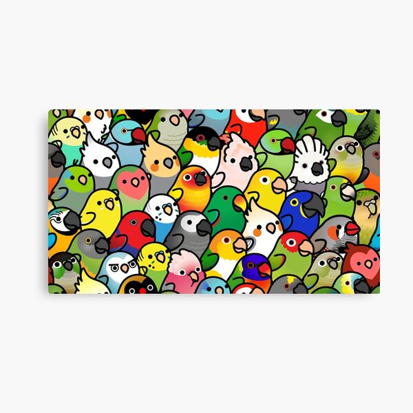 Everybirdy Pattern Canvas Print