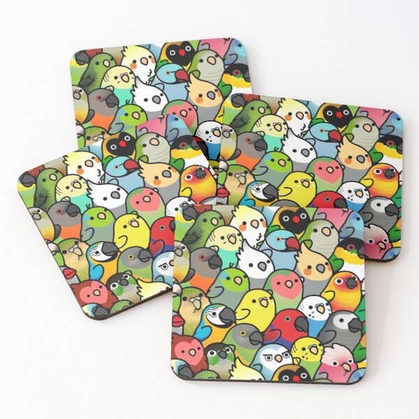 Everybirdy Pattern Coasters (Set of 4)