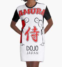 Samurai Dojo Japan Graphic T-Shirt Dress