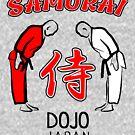 Samurai Dojo Japan by HandDrawnTees