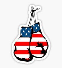 USA boxing flag Sticker