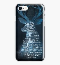 Throne of Glass - The Stag, the Lord of the North iPhone Case/Skin