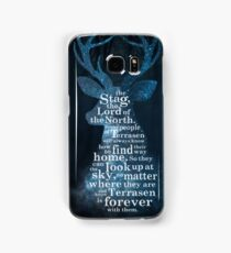 Throne of Glass - The Stag, the Lord of the North Samsung Galaxy Case/Skin