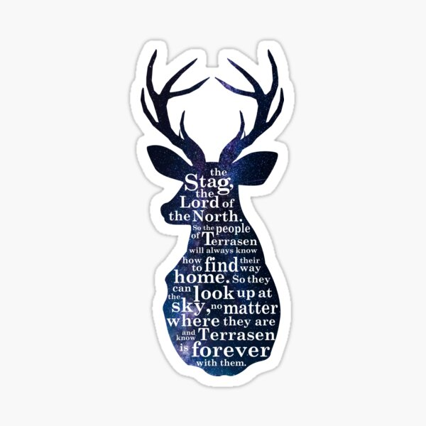 Throne of Glass - The Stag, the Lord of the North Sticker