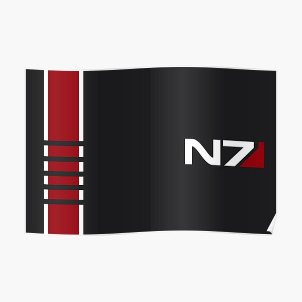 Mass Effect - N7 Stripe Poster