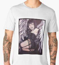 Bettie Page Angel Painting Men's Premium T-Shirt