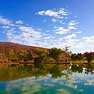 Heavitree Gap Reflected by Centralian Images