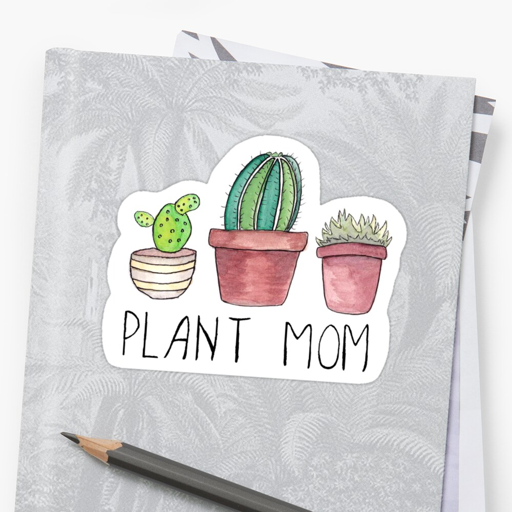 """Download """"Plant Mom"""" Stickers by DesignsByEmma 