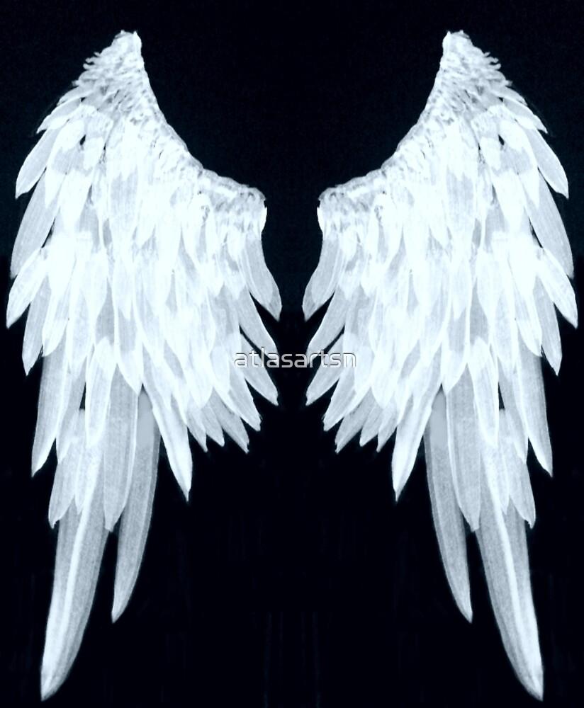Angel wings ice blue by atlasartsn