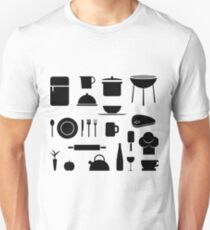 Modern Kitchen Pattern T-Shirt