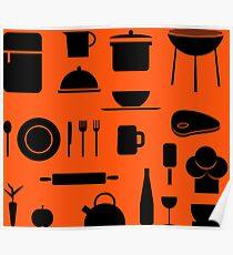 Modern Kitchen Pattern Poster