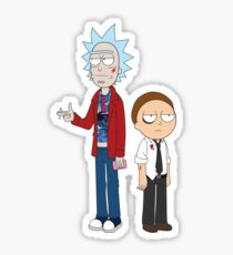 Rick and Morty / Fight Club Sticker