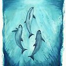 """""""Song of the Vaquita"""" watercolor painting by Amber Marine ~ (Copyright 2015) ~ (Porpoise, Critically Endangered Species)    by Amber Marine ~ Wildlife Artist ~ © 2004-2019"""