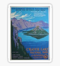 Travel Poster - Crater Lake National Park (1930s) Sticker