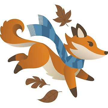 Woodland Fox with Scarf: Fall by taylorsmith03