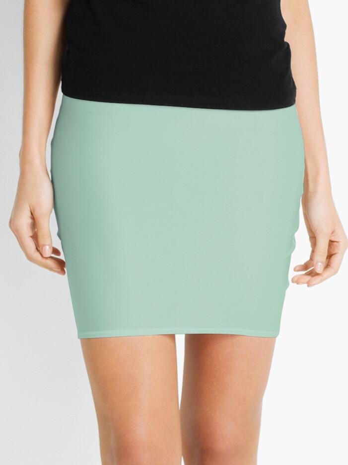 Sea foam Ruffles Aqua Mini Skirt