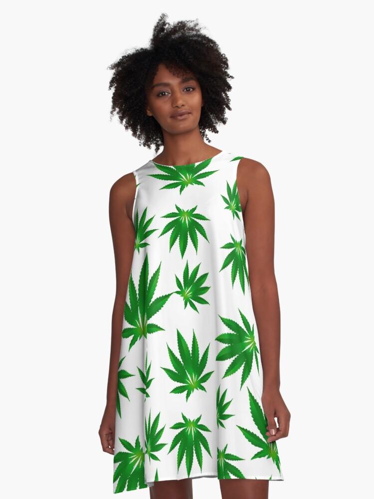 cannabis A-Line Dress Front