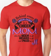 Behind Every Cheerleader Cute Dreaming Fearless Graphic Summer Gift Tshirt Unisex T-Shirt