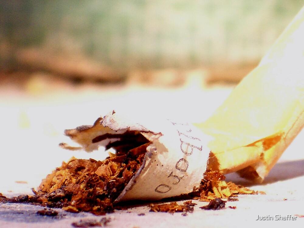 Crushed Cigarette by Justin Shaffer