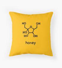 Honey Chemistry Sugar Molecule  Throw Pillow