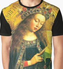 The Ghent Altarpiece (the Adoration of the Mystic Lamb) 2-Virgin Mary Graphic T-Shirt
