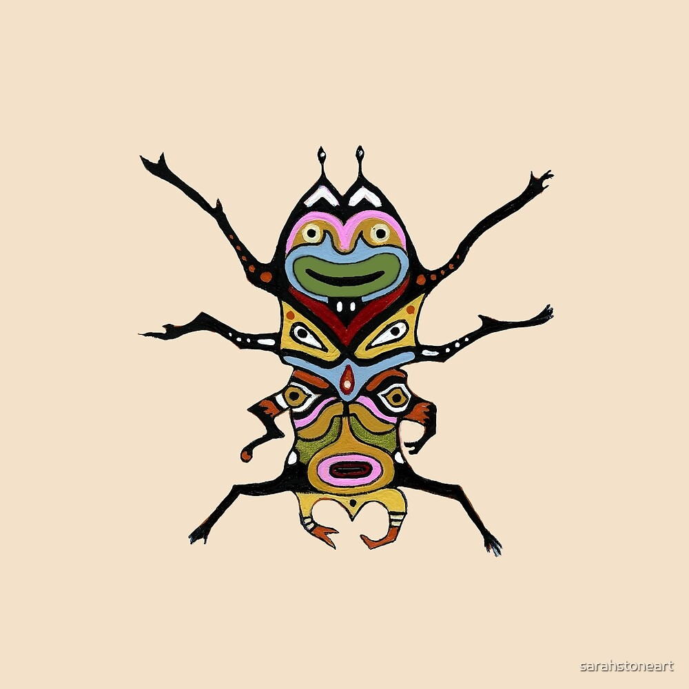 Many Faced Beetle by sarahstoneart