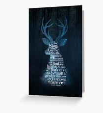 Throne of Glass - The Stag, the Lord of the North Greeting Card