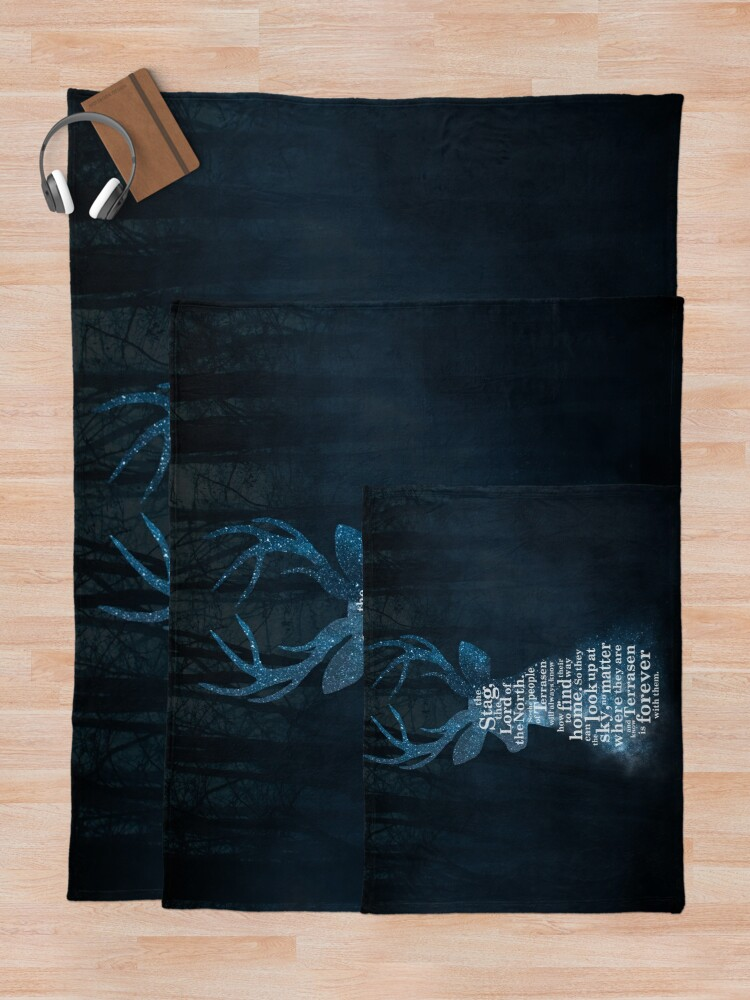 Alternate view of Throne of Glass - The Stag, the Lord of the North Throw Blanket