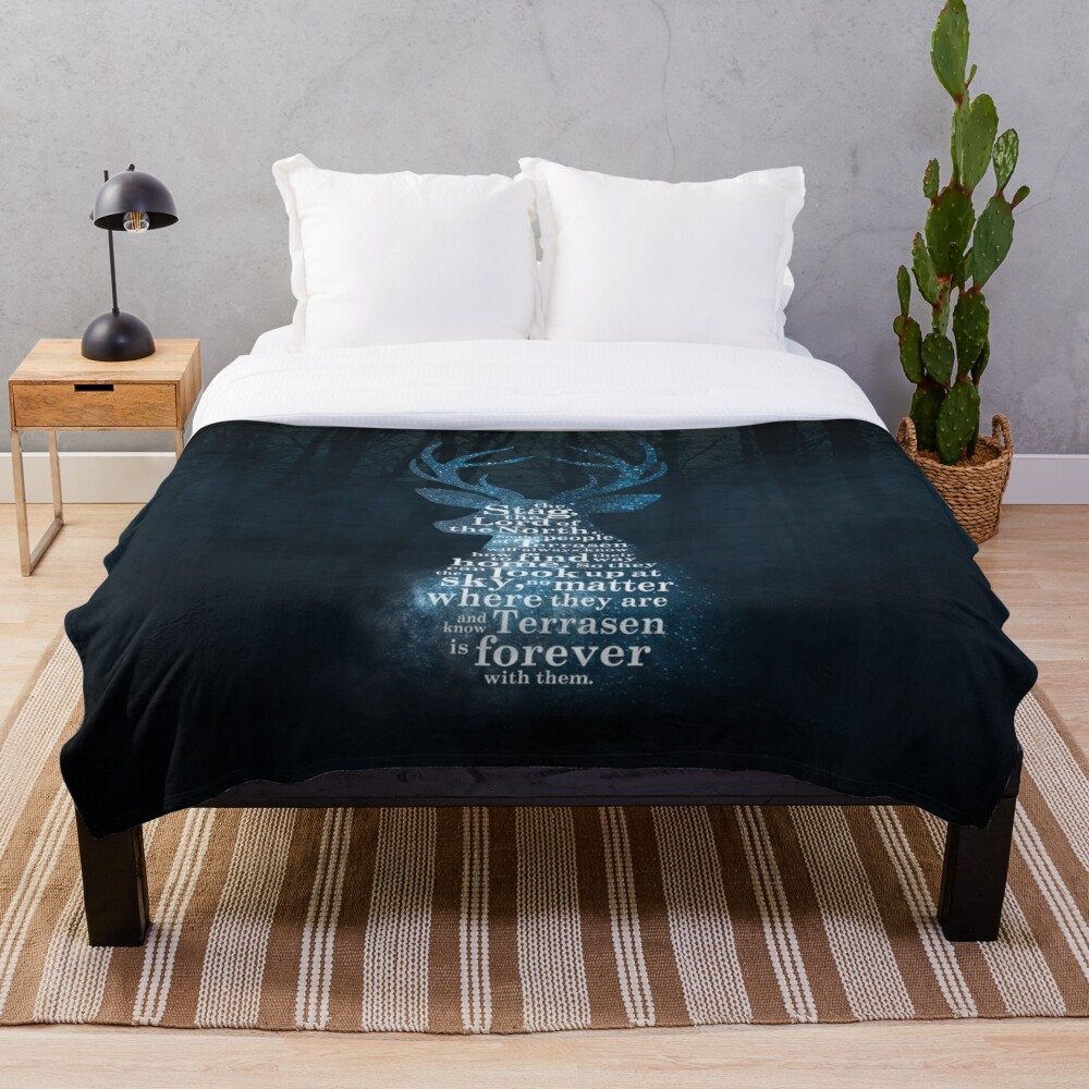 Throne of Glass - The Stag, the Lord of the North Throw Blanket