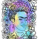 Colorful Frida by Rachael Burriss