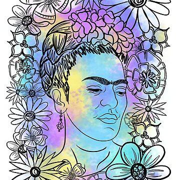 Colorful Frida by rachfaceburrdog