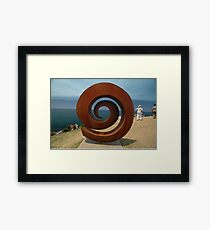 Spiral @ Sculptures By The Sea, 2011 Framed Print