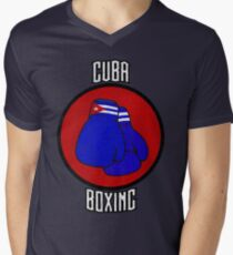 Cuba Boxing  Men's V-Neck T-Shirt