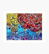 Order Graffiti bed linen online Art Print