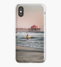 Huntington Beach Pier and Surfer iPhone Case/Skin