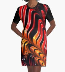 New graffiti bedding Graphic T-Shirt Dress