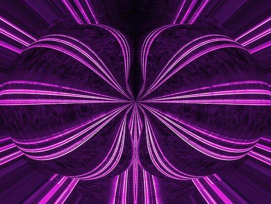 purple bow tie by Astralia