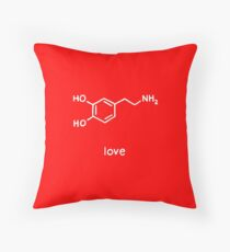 Love Chemistry Molecule Dopamine Throw Pillow